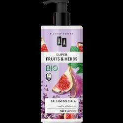 AA SUPER FRUITS&HERBS balsam do ciała figa&lawenda