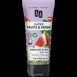 AA SUPER FRUITS&HERBS krem do stóp rozmaryn&figa