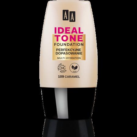 AA Make Up Ideal Tone Podkład perfekcyjne dopasowanie 109 caramel 30ml