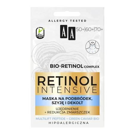 AA Retinol 50-70+ Maska ujędrnienie+redukcja zmarszczek 2x5ml