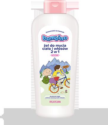 BAMBINO Dzieciaki Żel do mycia ciała i włosów WYCIECZKA ROWEROWA 400ml