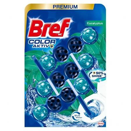 BREF COLOR ACTIV+ Zawieszka do WC 3X50g Eucaliptus