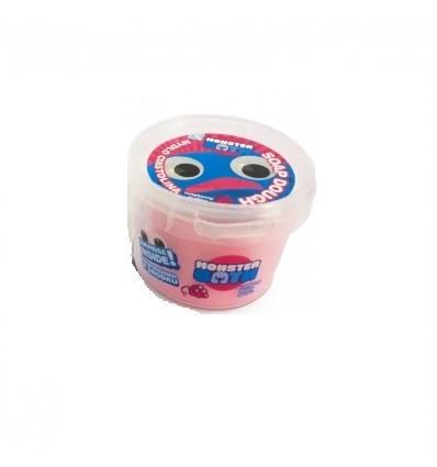 Monster Bath Ciastolina mydło do kąpieli różowe-malina
