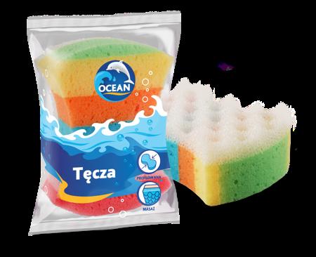 Ocean gąbka do kąpieli i masażu Tęcza