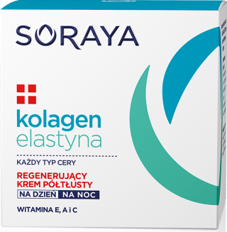 Soraya KOLAGEN+ELASTYNA Regenerujący krem półtłusty dzień/noc